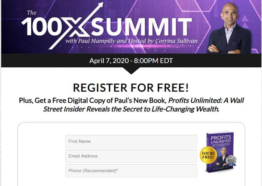 The 100X Summit by Paul Mampilly