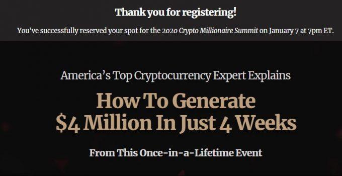 Crypto Millionaire Summit by Matt McCall Review