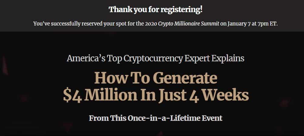 Crypto Millionaire Summit Review