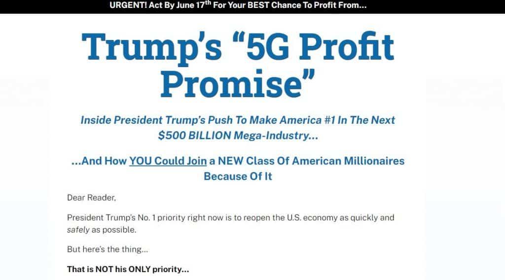 """Trump's """"5G Profit Promise"""" - Legit 5G Stock? 2"""