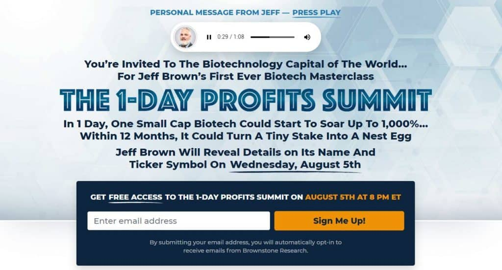 The 1-Day Profit Summit [Jeff Brown]