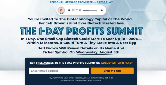 The 1-Day Profit Summit [Jeff Brown]