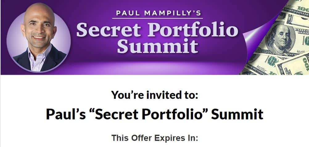 Paul Mampilly's Secret Portfolio Summit