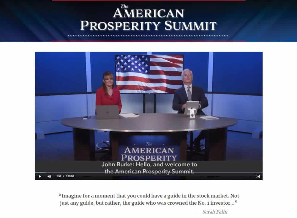 The American Prosperity Summit by Charles Mizrahi, Sarah Palin