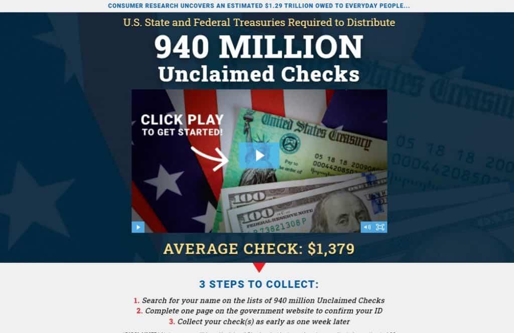 940 Million Unclaimed Checks by Jason Stutman