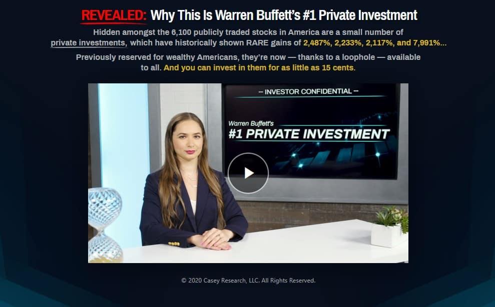 Warren Buffet's #1 Private Investment