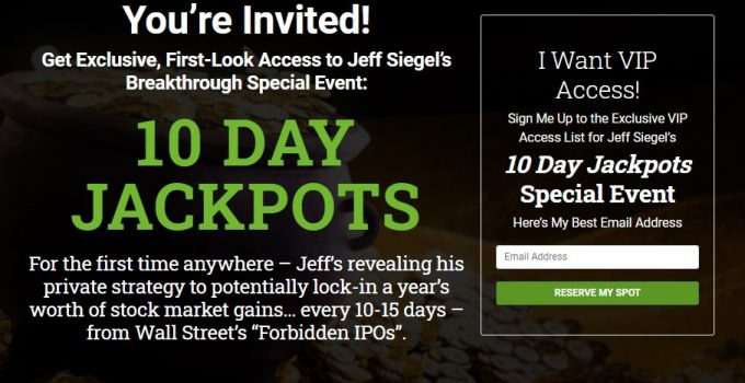Jeff Siegel's 10 Day Jackpots