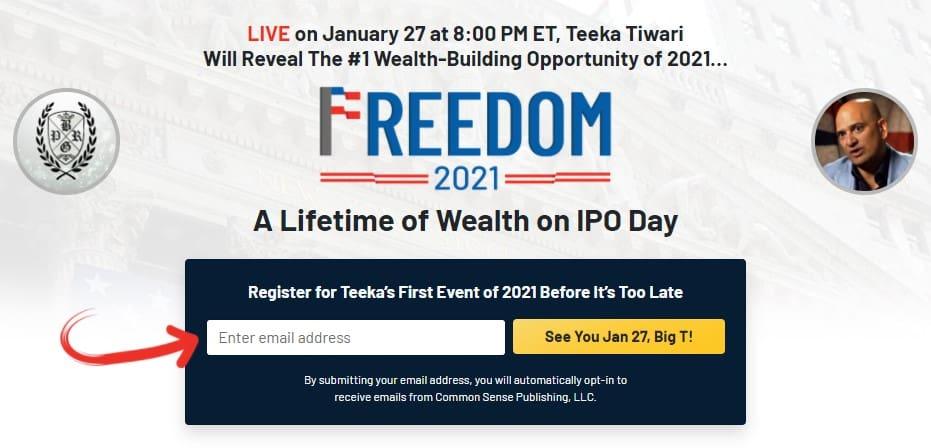 Teeka Tiwari's Freedom 2021