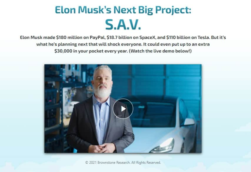 Elon Musk's Next Big Project (S.A.V) by Jeff Brown