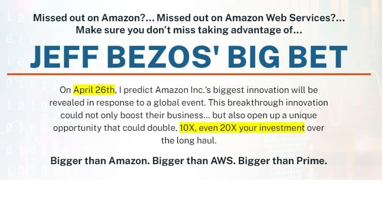 Jeff Bezos Big Bet (James Altucher)