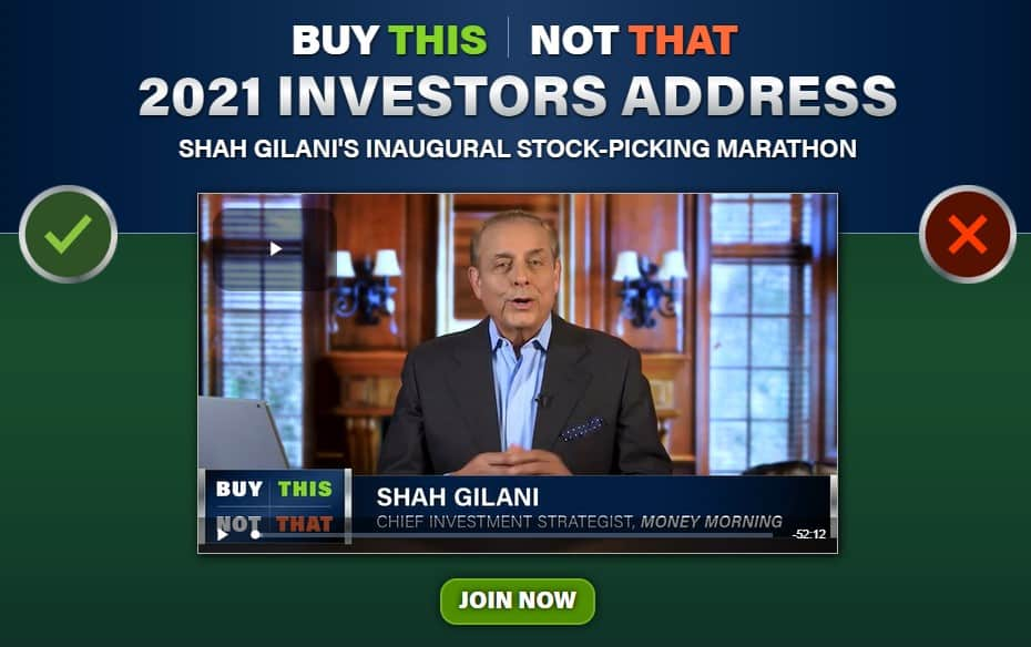 2021 Investors Address (Shah Gilani)